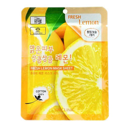 3W Clinic Тканевая маска для лица с экстрактом лимона Fresh Lemon Mask Sheet, 23 мл