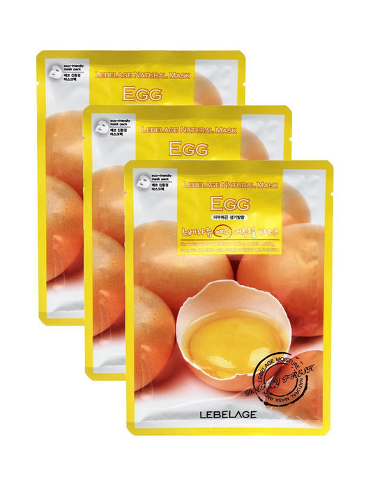 Lebelage Маска тканевая для лица с экстрактом яйца - Egg natural mask, 23г
