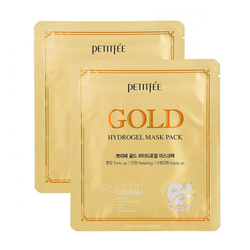 Petitfee Маска для лица гидрогелевая c золотом - Gold hydrogel mask pack, 32г