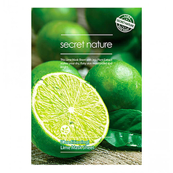 Secret Nature Маска для лица бодрящая с экстрактом лайма - Conditioning lime mask sheet, 25г
