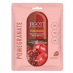 Jigott Маска ампульная с экстрактом граната - Pomegranate real ampoule mask, 27мл